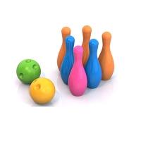 БОУЛИНГ (6 кеглей+2 шара с выемками для пальцев)
